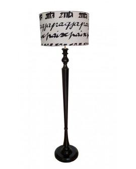 Lámpara de pie clásica Letter