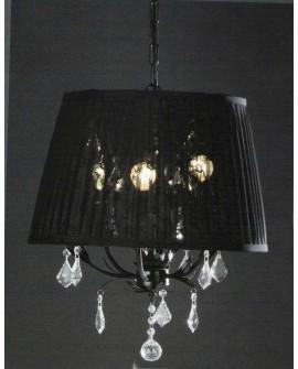 Lámpara techo con pantalla negra Braden