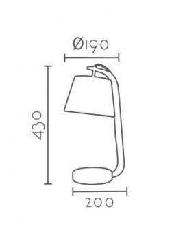 Lámpara mesita de noche moderna Tosca, medidas