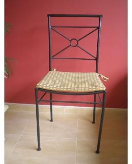 Set de 4 sillas en forja rústica Arlea