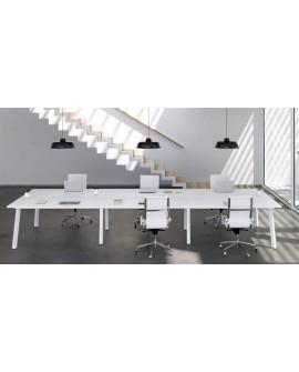 Mesa oficina moderna multipuestos Cuadro
