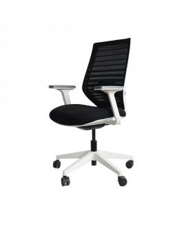 Sillón oficina moderna Fly blanco