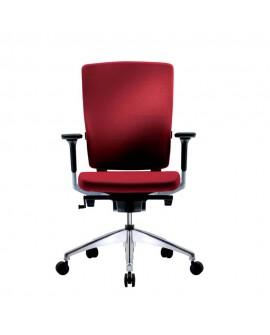 Sillón giratorio despacho Flex tapizado rojo