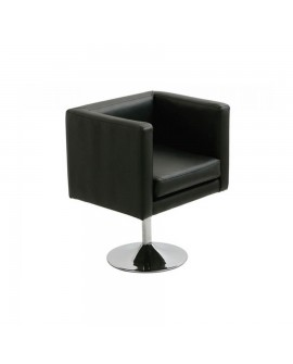 Butaca de diseño moderno Taracan, negra