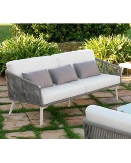 Sofá de cuerda tres plazas para jardín Huaros