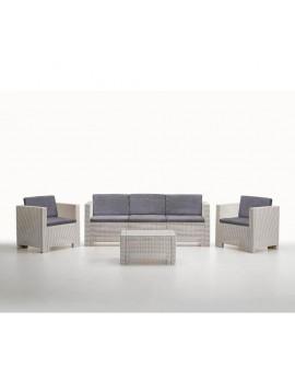 Conjunto de sofás para terraza jardín Talamanca, blanco