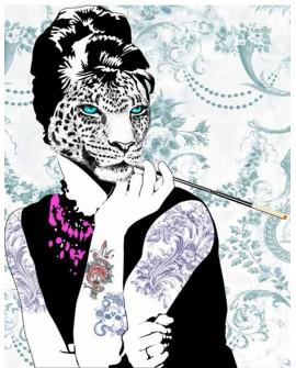 Cuadro de Mujer Leopardo