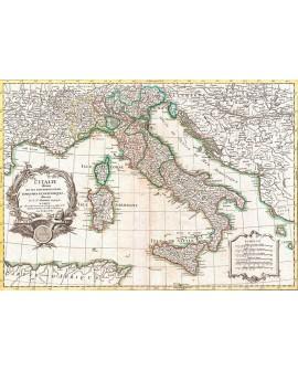 Cuadro mapa de Italia 1770