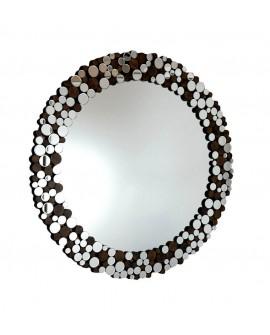 Espejo de cristal redondo moderno Cisne