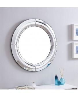 Espejo de cristal redondo Cuenca