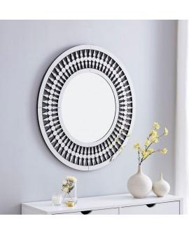 Espejo de cristal redondo Yaupen