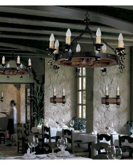 Lámpara de techo rústica Molinos