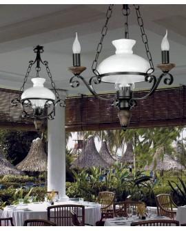 Lámpara de techo rústica Caleta