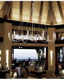 Lámpara techo de forja Visala