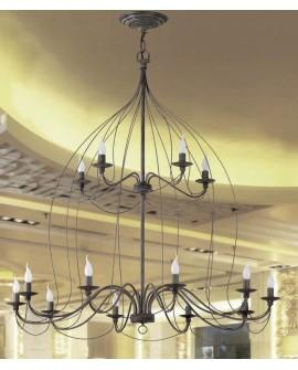 Lámpara techo de forja Belen