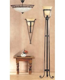 Lámpara pie de salón rústica Flores