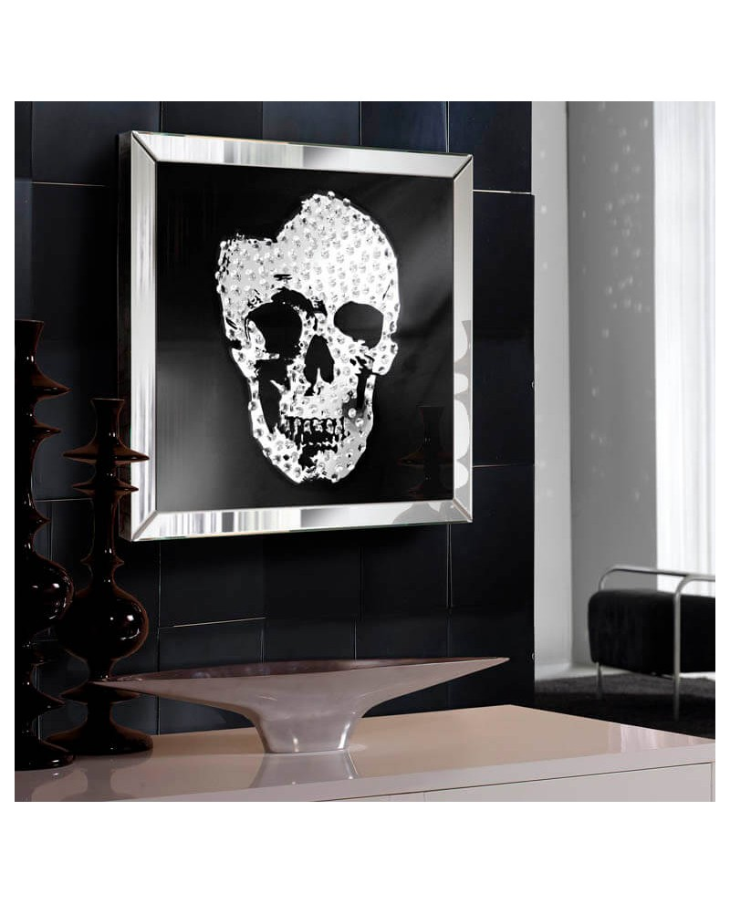 Cuadro espejo moderno Skull