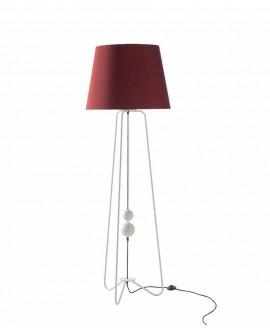 Lámpara pie de salón moderna Susy, roja