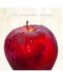 Cuadro manzana roja