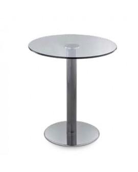 Mesa redonda para exterior Paul top de vidrio