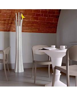 Perchero de diseño Bamboo blanco