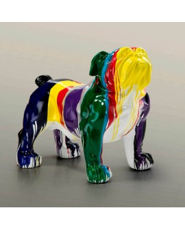 Figura Bulldog multicolor