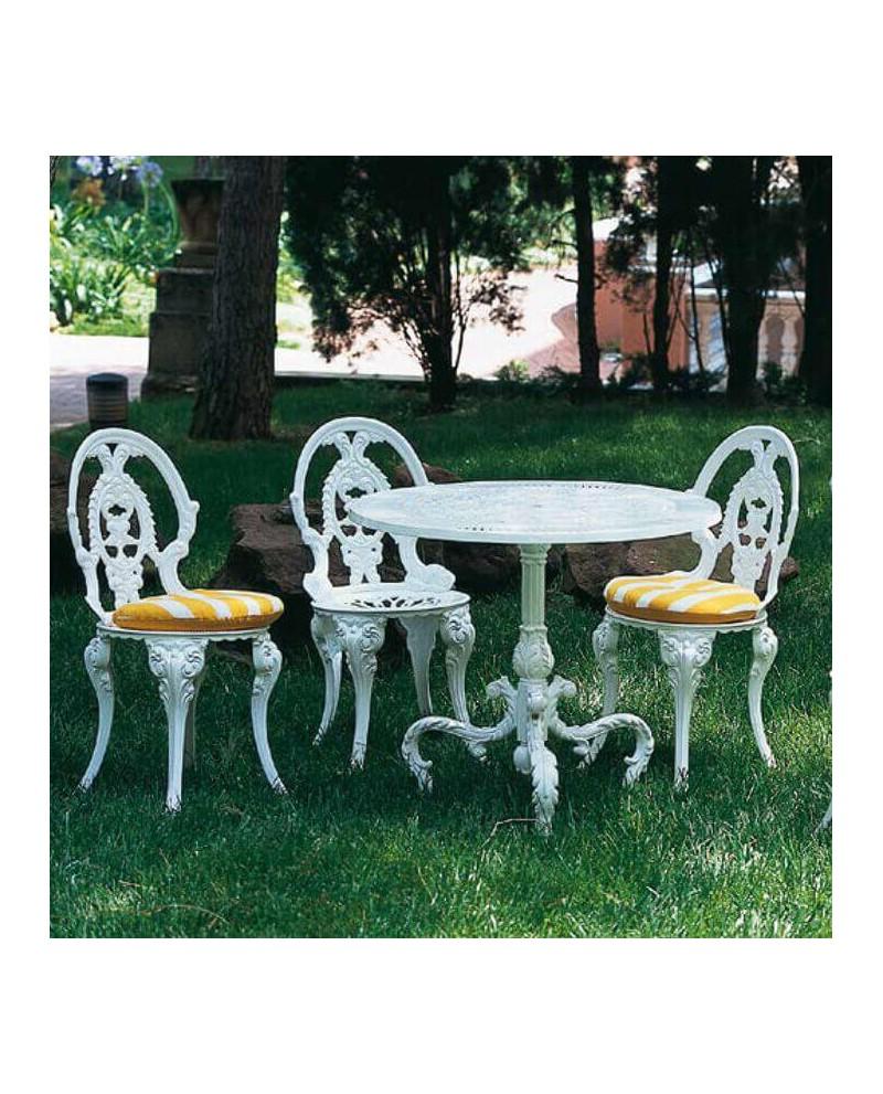 Mesa y sillas de jardín aluminio Francés