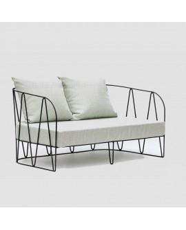 Sofá de exterior de diseño Lagarto negro
