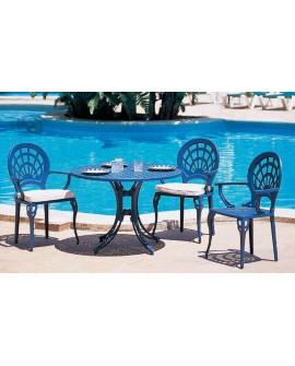 Mesa y sillas de jardín aluminio Vallada