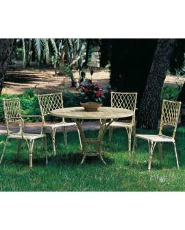 Mesa y sillas de jardín aluminio Bambú